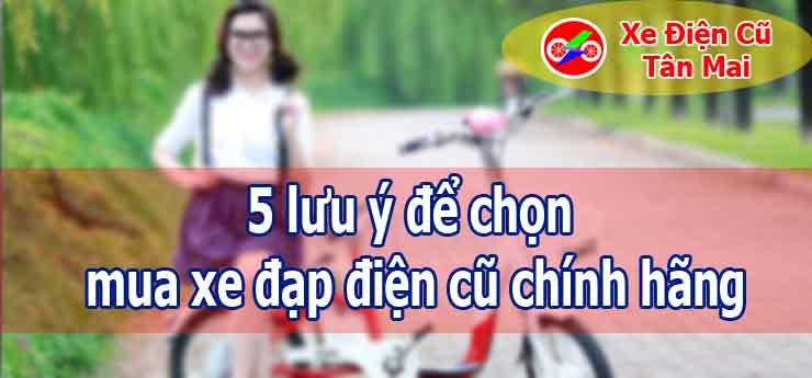 5 lưu ý để chọn mua xe đạp điện cũ chính hãng