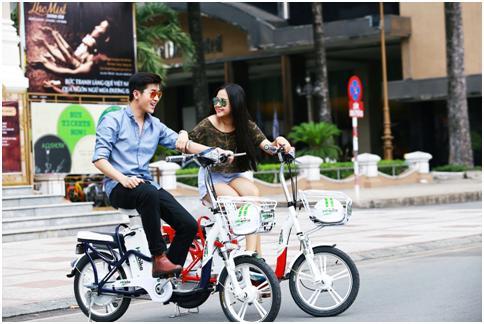 Xe đạp điện chạy pin nhẹ nhàng