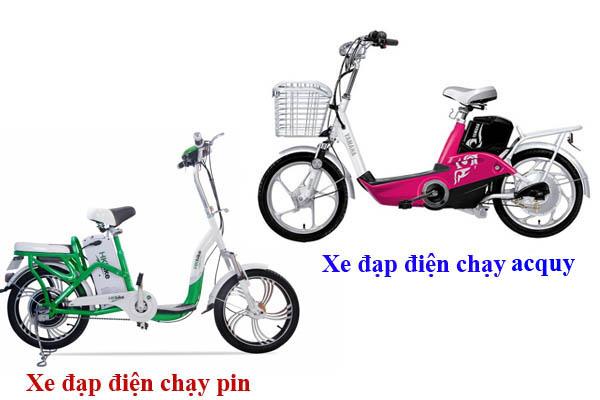 Chọn xe đạp điện chạy pin hay acquy