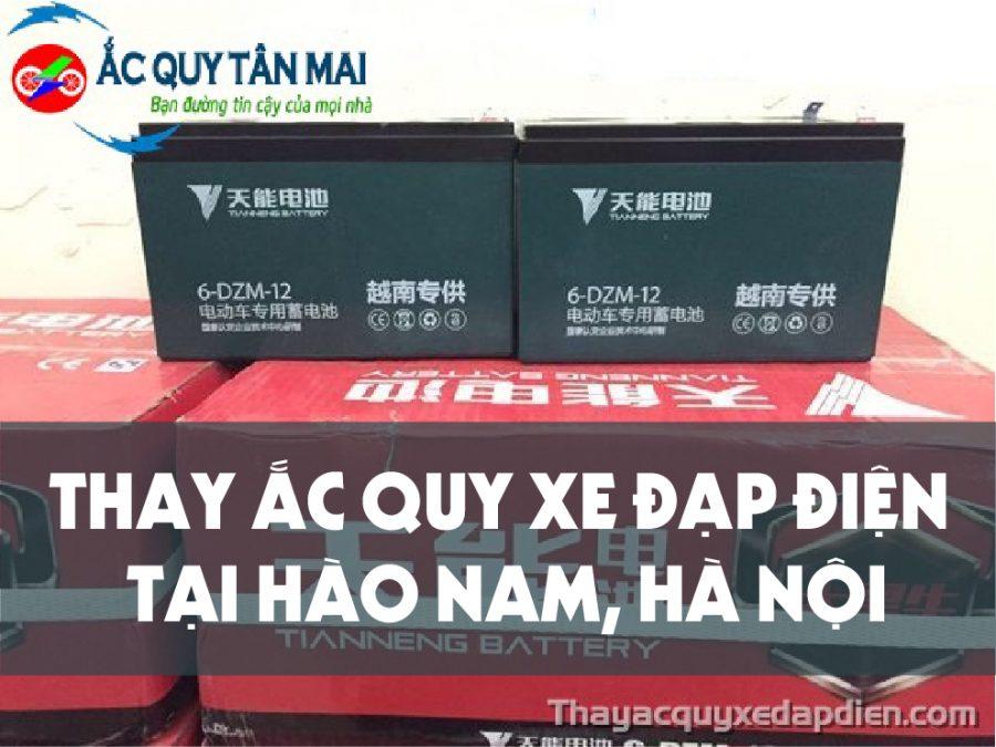 Thay ắc quy xe đạp điện tại Hào Nam
